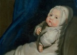 Portrait of a baby (detail), ca.1690-1730, circle of Mary Beale (Coll. Museum of Childhood, London)
