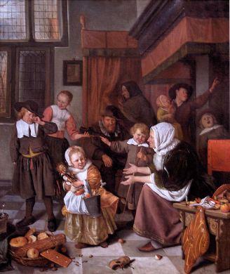 The Feast of Saint Nicholas by Jan Steen